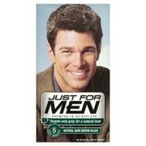 Image for Just For Men Shampoo-in Haircolour Natural Dark Brown-Black