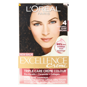Image for LOreal Paris Excellence Creme Triple Care Crème Colour 4 Natural Dark Brown