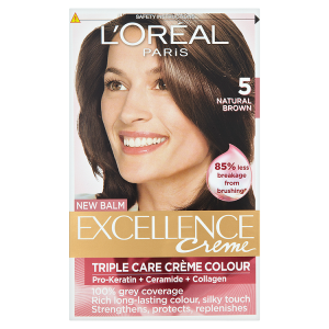 Image for LOreal Paris Excellence Creme Triple Care Crème Colour 5 Natural Brown