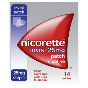 Image for Nicorette Step 1 Invisi 25mg Patch Nicotine 14 Patches