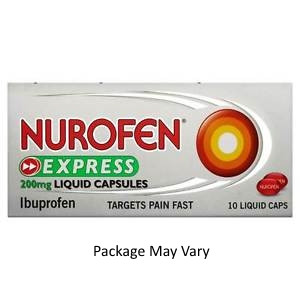 Image for Nurofen Express 200mg Liquid Capsules 10 Liquid Capsules