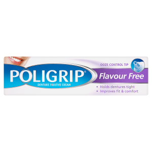 Image for Poligrip Denture Fixative Cream Flavour Free 40g