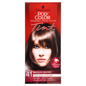 Image for Schwarzkopf Poly Color Permanent Cream Colour Tint 41 Medium Brown