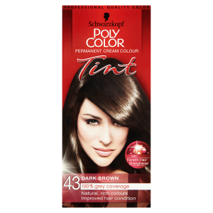 Image for Schwarzkopf Poly Color Permanent Cream Colour Tint 43 Dark Brown