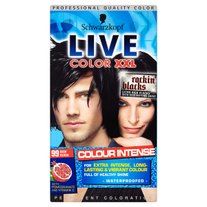 Image for Schwarzkopf Live Color XXL Colour Intense Permanent Coloration 99 Deep Black