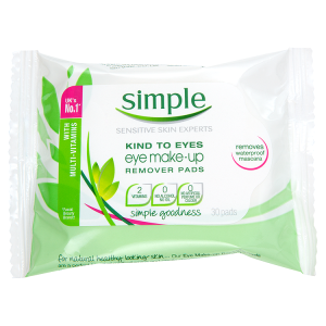 Image for Simple Kind to Eyes Eye Make-Up Remover Pads x 30