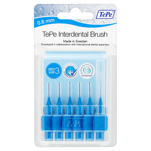 Image for TePe Interdental Brush 0.6mm ISO Size 3 Blue
