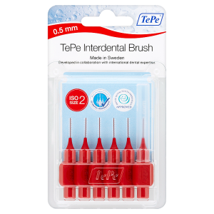 Image for TePe Interdental Brush 0.5mm ISO Size 2 Red