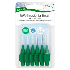 Image for TePe 6 Interdental Brushes Green 0.8mm