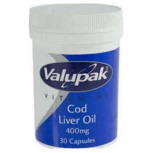 Image for Valupak Cod Liver Oil Caps 400mg 30 Capsules