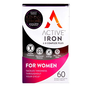 Image for Active Iron & B Complex for Women 60 Capsules