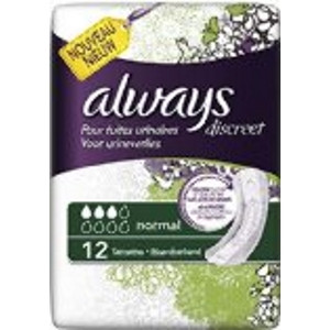 Image for Always Discreet Normal Pads - 12