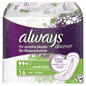 Image for Always Discreet Small Plus Pads - 16's