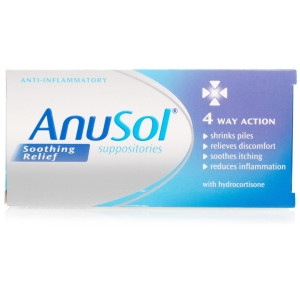 Image for Anusol Soothing Relief Suppositories - 12 Suppositories