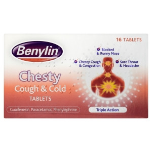Image for Benylin Chesty Cough and Cold Tablets - 16 Tablets