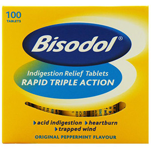 Image for Bisodol Indigestion Relief 100 Tablets