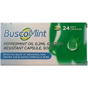 Image for BuscoMint Peppermint Oil Gastro-Resistant 24 Capsules