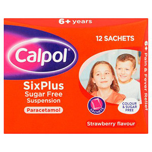 Image for Calpol SixPlus Suspension Sugar Free Sachets 12x5ml