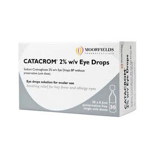 Image for Catacrom 2% w/v Eye Drops 30 Single Unit Dose