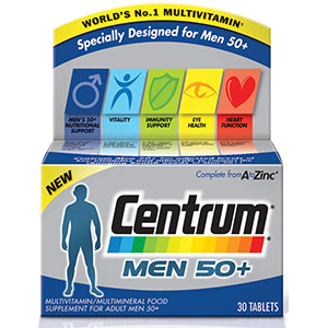 Image for Centrum Advance for Men 50+ 30 Tablets