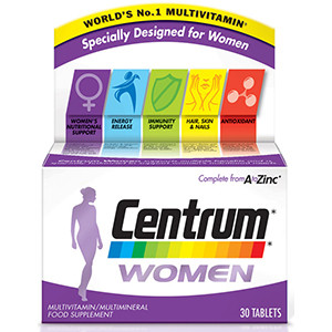 Image for Centrum Advance for Women 30 Tablets