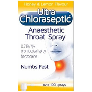 Image for Ultra Chloraseptic Anaesthetic Honey & Lemon Throat Spray 15ml