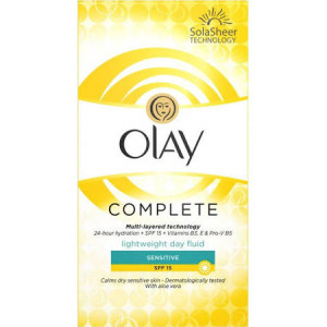 Olay Essentials Complete Care for Sensitive Skin SPF15 Day Fluid - Pack of 100ml