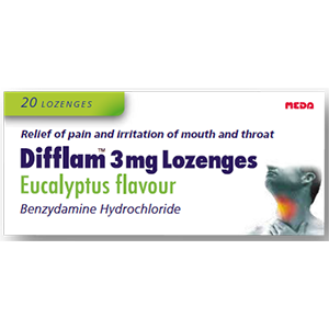 Image for Difflam 3mg Lozenges Eucalyptus Flavour 20 Lozenges