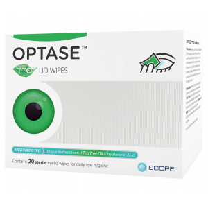 Optase TTO Lid Wipes pack of 20