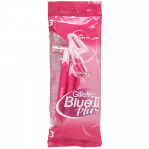 Gillette Blue II Plus Pink - 3 Razors