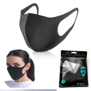 Black Washable Face Covering Mask