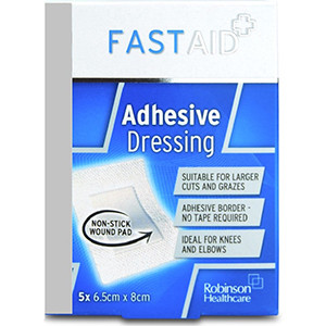 Image for Fast Aid Sterile Adhesive Dressings - 5 Dressings