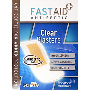 Image for Fast Aid Clear Assorted Plasters - 24 Plasters