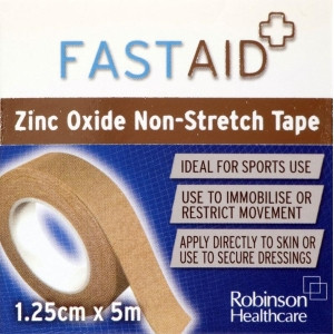 Image for Fast Aid Zinc Oxide Non-Stretch Tape 1.25cm x 5m