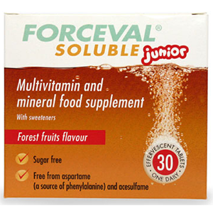 Image for Forceval Soluble Junior 30 Tablets