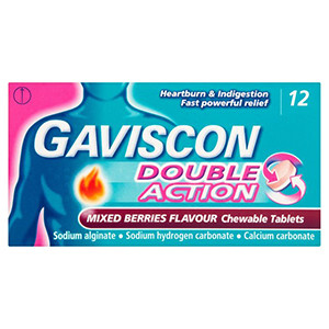 Image for Gaviscon Double Action Mixed Berry 12 Chewable Tablets