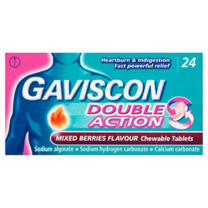 Image for Gaviscon Double Action Mixed Berry 24 Chewable Tablets