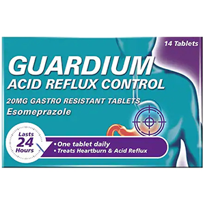 Image for Guardium Acid Reflux Control 20mg - 14 Tablets