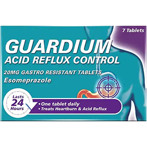 Image for Guardium Acid Reflux Control 20mg - 7 Tablets