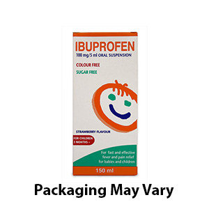 Image for Ibuprofen 100mg/5ml Suspension 150ml (Nurofen Alternative)