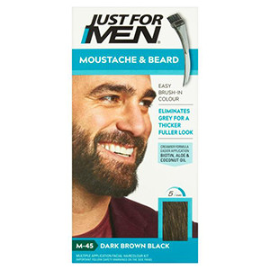 Image for Just For Men Brush-In Colour Gel Moustache & Beard Natural Dark Brown-Black M45