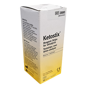 Ketostix Reagent Strips for Urinalysis - Pack of 50