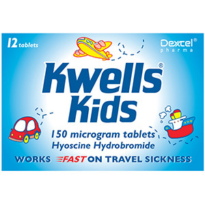 Image for Kwells Kids Travel Sickness 12 Tablets