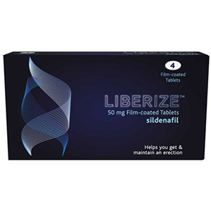 Image for Liberize 50mg Film Coated Sildenafil 4 Tablets