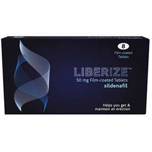 Image for Liberize 50mg Film Coated Sildenafil 8 Tablets