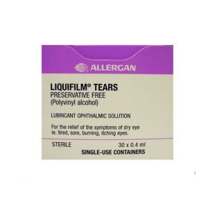 Image for Liquifilm Tears Eye Drops Preservative-free 0.4ml Pack of 30