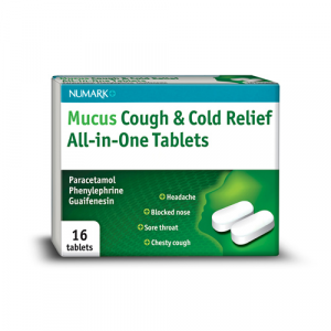 Numark Mucus Cough & Cold Relief All-in-One 16 Tablets
