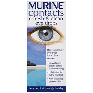 Image for Murine Contacts Refresh & Clean Eye Drops 15ml