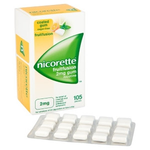 Image for Nicorette FruitFusion 2mg 105's