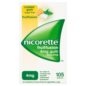 Image for Nicorette FruitFusion 4mg Gum Nicotine 105 Pieces